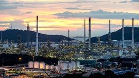 petrochemische de fabrieksinstallatie van de olieraffinaderij royalty-vrije stock afbeelding