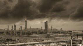 Petrochemische de industrieinstallatie Stock Afbeelding
