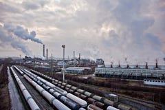 Petrochemische industriële complex Stock Afbeelding