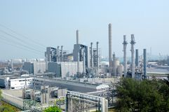 Petrochemische Industrie stockbilder