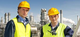 Petrochemische Ingenieure stockfotos