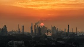 Petrochemische Installatie, China royalty-vrije stock fotografie