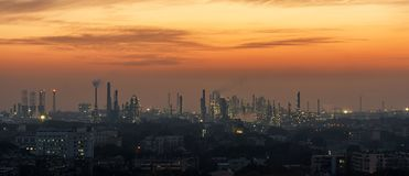 Petrochemische Installatie, China stock foto's