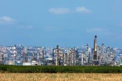 Petrochemische installatie dichtbij Haifa in Israle Stock Fotografie
