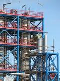 Petrochemische installatiebouwwerf Stock Afbeeldingen