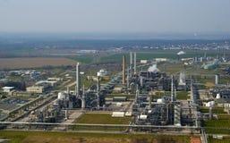 Petrochemische raffinaderij Stock Foto