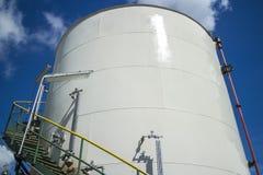 Petrochemische Tank Royalty-vrije Stock Foto's