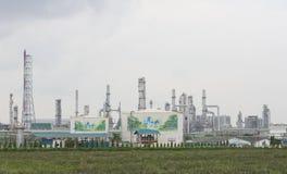 Petrochemisches destillation O Kraftstoff der chemischen Industrie der Erdölraffinerie lizenzfreie stockbilder