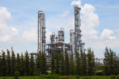 Petrochemisches Werk, Industriegebiet, Thailand Lizenzfreies Stockbild