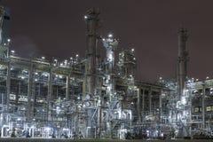 Petrochemy factory by night stock photos