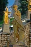 petrodvorets ансамбля каскада грандиозные стоковое изображение