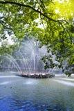 Petrodvorets 喷泉太阳 免版税库存照片