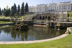 petrodvorets pete фонтана Стоковая Фотография RF