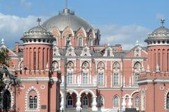 Petroff pałac Moskwa Lipiec letni dzień Fotografia Royalty Free