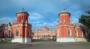 Petroff slott moscow Ryssland Royaltyfria Foton