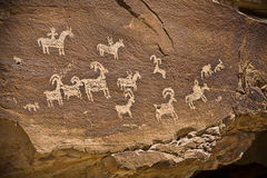 petroglif Obraz Stock