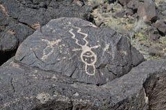Petroglif lub mężczyzna - Rockowa sztuka Fotografia Stock