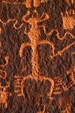 Petroglif na Gazety Skale Zdjęcia Stock