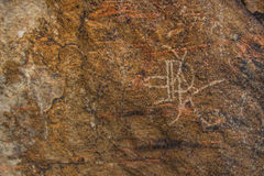 Petroglif na Tas, Kazachstan Zdjęcia Stock