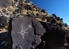 Petroglif, petroglifu Krajowy zabytek, Albuquerque, Nowy - Mexico Obraz Stock