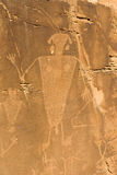 Petroglif w dinosaura Krajowym zabytku Obraz Royalty Free