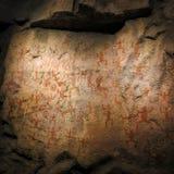 Petroglifi antichi misteriosi della caverna Fotografia Stock Libera da Diritti