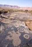 Petroglifi del canyon di Anasazi Fotografie Stock