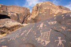 Petroglifi del canyon di Anasazi Fotografia Stock