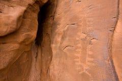 Petroglifi del canyon di Anasazi Immagini Stock