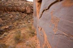 Petroglifi del canyon di Anasazi Fotografia Stock Libera da Diritti