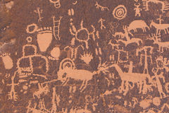 Petroglifi del nativo americano Fotografia Stock