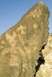 Petroglifi del nativo americano al monumento nazionale del petroglifo, fuori di Albuquerque, il New Mexico Immagini Stock