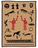Petroglifi del Vichingo Immagine Stock Libera da Diritti