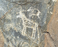 Petroglifi dell'età del bronzo recente Fotografia Stock