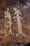 Petroglifi dell'intervallo di Coso Fotografia Stock