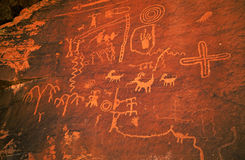 Petroglifi indiani fotografie stock