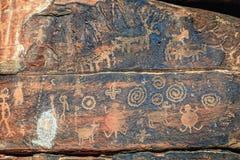 Petroglifi indiani Immagini Stock