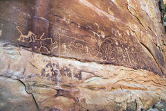 Petroglifi, MESA Verde, Arizona Fotografia Stock Libera da Diritti