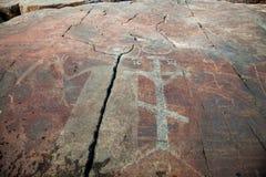 Petroglifi misteriosi di Onega. Besov no. Fotografia Stock Libera da Diritti