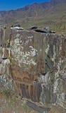Petroglifi su una roccia Fotografia Stock Libera da Diritti