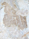 Petroglifi sul lago Baikal Fotografie Stock Libere da Diritti