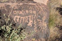 Petroglifi sulla pietra Fotografia Stock Libera da Diritti