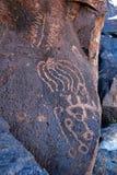 Petroglifo #2 del valle de Greenwater Imágenes de archivo libres de regalías