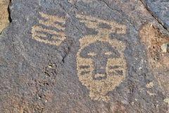 Petroglifo del nativo americano Imagen de archivo libre de regalías