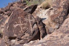 Petroglifo della gente Fotografia Stock