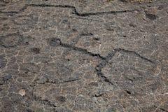 Petroglifo della lava Fotografie Stock Libere da Diritti