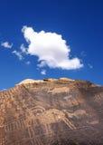 Petroglifo delle pecore Bighorn Fotografie Stock