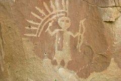 Petroglifo dettagliato 2 fotografie stock