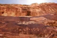 Petroglifo di Anasazi Fotografia Stock