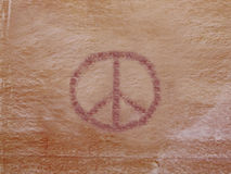 Petroglifo di pace Fotografie Stock
